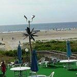 Open patio with ocean view