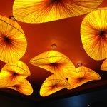 Artsy ceiling lighting