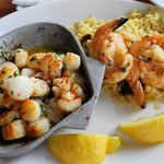My scallops and grilled shrimp