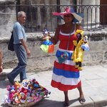 Cuban dolls for sale in front of Cathederal