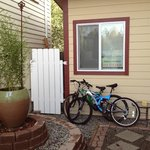 Side Yard and Bicycles/Barbecue