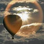 Sabah balon ve gün dogumu