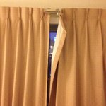 The curtain in completely closed position.