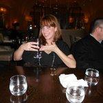 Enjoying our dinner at Nineteen.