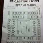 this map shows that we had quite a trek from the elevator to our room.