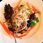 Beef Satay w/ cold sesame noodles.