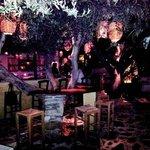 Golden Garden Music-Bar, before the crowd arrives, near Louridis