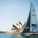 Sailing Sydney Harbour on America's Cup Yacht AUS 40