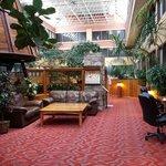 The atrium/lobby area