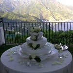 Incredible Cake with that View from the Villa