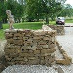 Création terrase et murets en pierres sèches