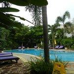 Pool inside the resort