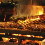 The wood fired grill