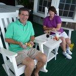 Happy Hour on the verandah!
