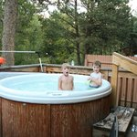 Hot tub on deck