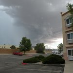 Outside-Facing South as a storm rolls in