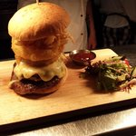 Double Angus Burger with a selection of toppings