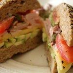 turkey ham/avocado/gouda sandwich