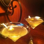 Our amazing filthy dirty martinis