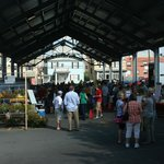 The Morgantown Market Place pavilion where the Morgantown Farmers Market is held - back view