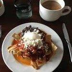 Desayuno con chilaciles
