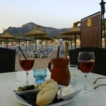 A jug of sangria with the best alioli we had in Mallorca