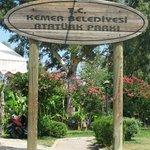 вход в парк в Кемере