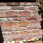 A feature wall made of interesting old bricks