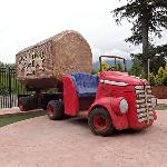 The logging truck on the 9th hole