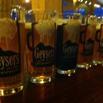 first Geyser beers on tap