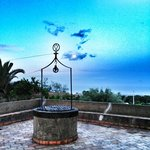 The well overlooking the Mediterranean next to the entrance to San Michele's excellent restauran