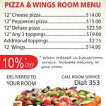 Hotel Suite Room Service Family Special from Westwinds