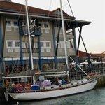 At our berth