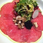 New England Family Farms beef carpaccio