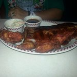 The ribs and chicken