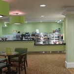 The new café in the Spinnaker lounge