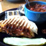 Grilled Panini w/ Chili