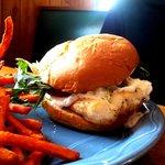 Maggie's SUPER Superior Whitefish Sandwich w/ Sweet Potato Fries