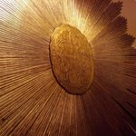 Giant sunburst on wall
