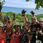 View from Mal Pais zip-lining