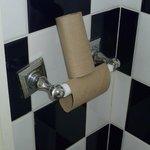 The empty toilet rolls