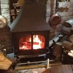 lovely cosy log burner
