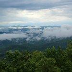 A break in the clouds above the clouds.