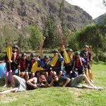 Rafting the Urubamba river