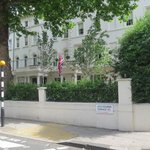 The hotel and its location on Westbourne Terrace