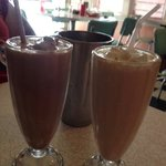 Chocolate and Peanut Butter Milk Shakes