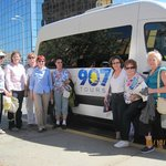 Our group with Susan and the 907 Van