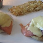 after starter: spinach, salmon and egg benedict
