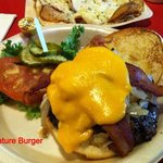 Signature Burger earns and wears title well -- it is great.
