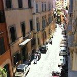 quaint street out front